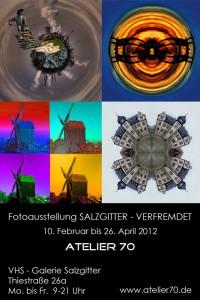 Postkarte Salzgitter - verfremdet