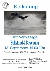Plakat Vernissage Stillstand und Bewegung