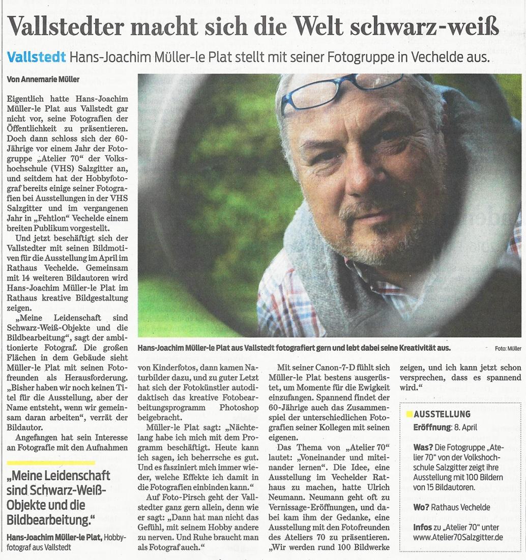 Braunschweiger Zeitung vom 5. Januar 2016