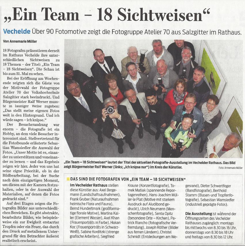 Braunschweiger Zeitung vom 12. April 2016